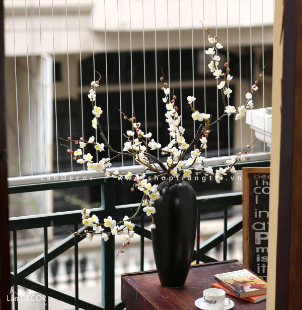 Bình hoa bạch đào cao 90cm - BH1074