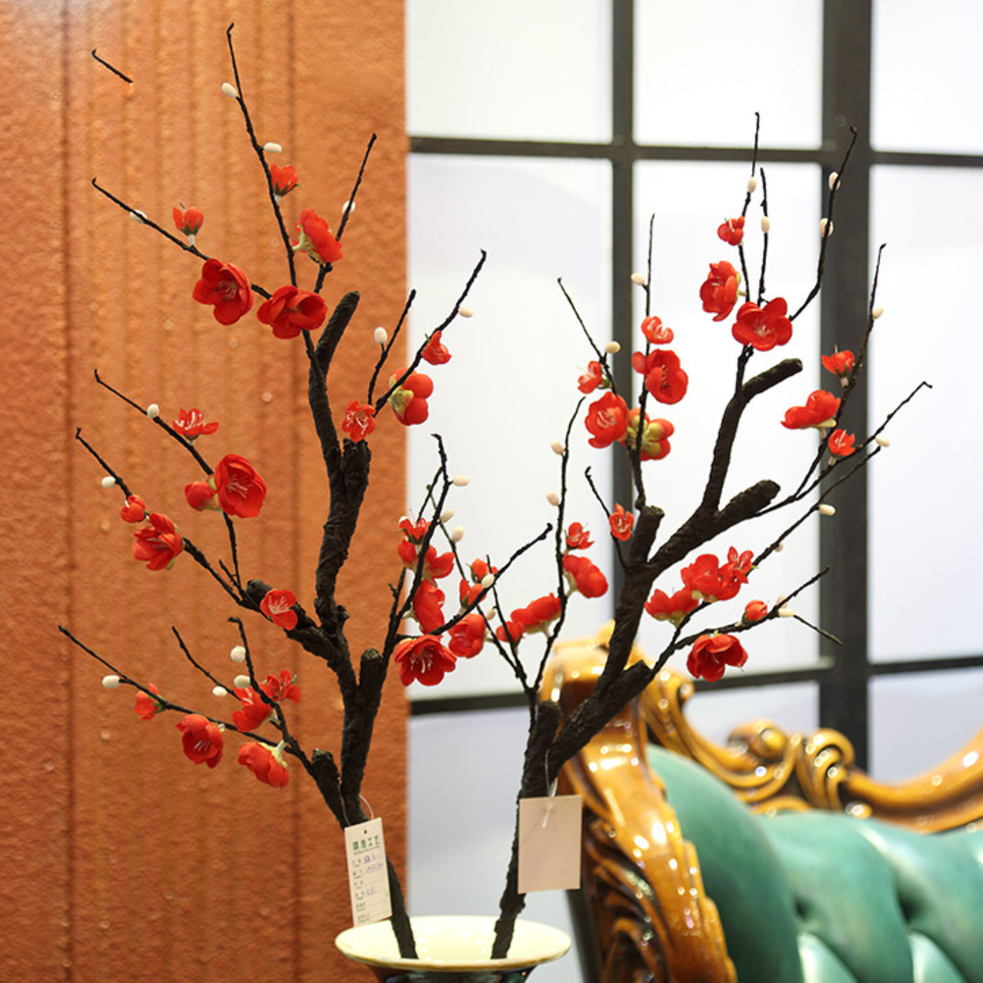 Cành hoa đào 12 chồi - HC221