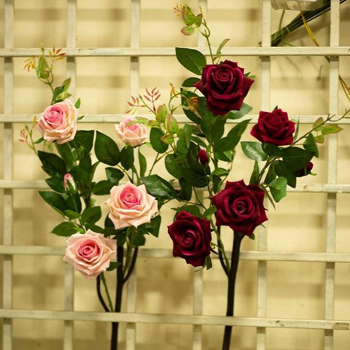 HC088 - Cành hoa hồng (80 cm)