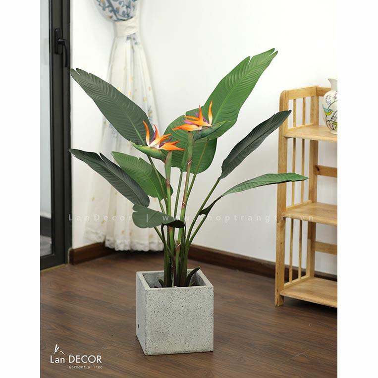 Cây hoa Thiên Điểu trang trí nội thất sang trọng 120cm - LC3018-1