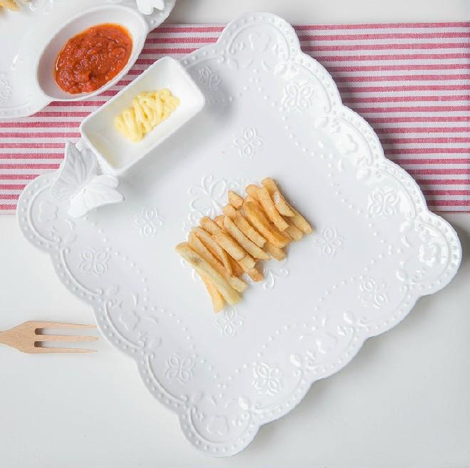 Đĩa đựng đồ ăn hình vuông - DDA002