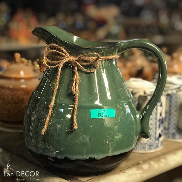 Bình gốm quai sữa cao 22 cm (3 màu) - BG439