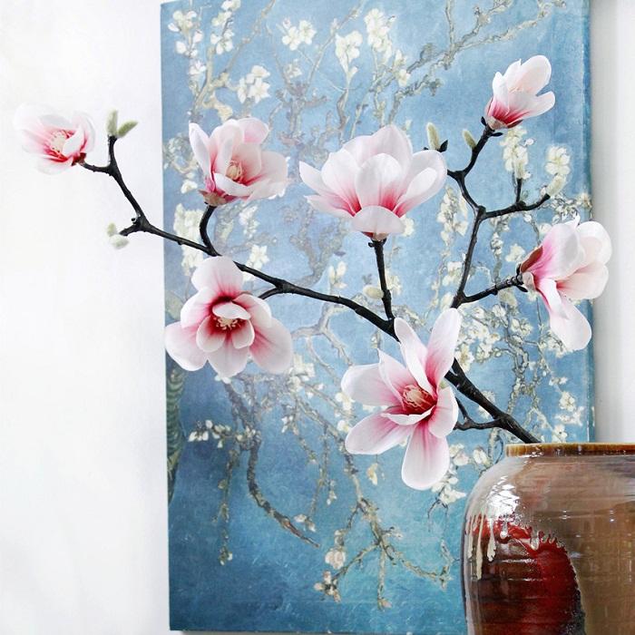 Cành hoa mộc lan (7 bông) - HC934