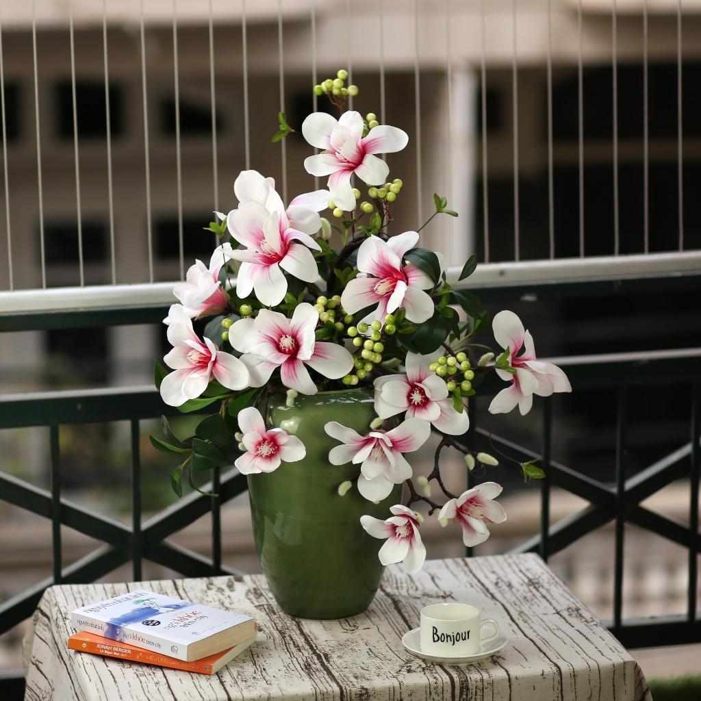 Bình hoa mộc lan cao 80cm - BH796