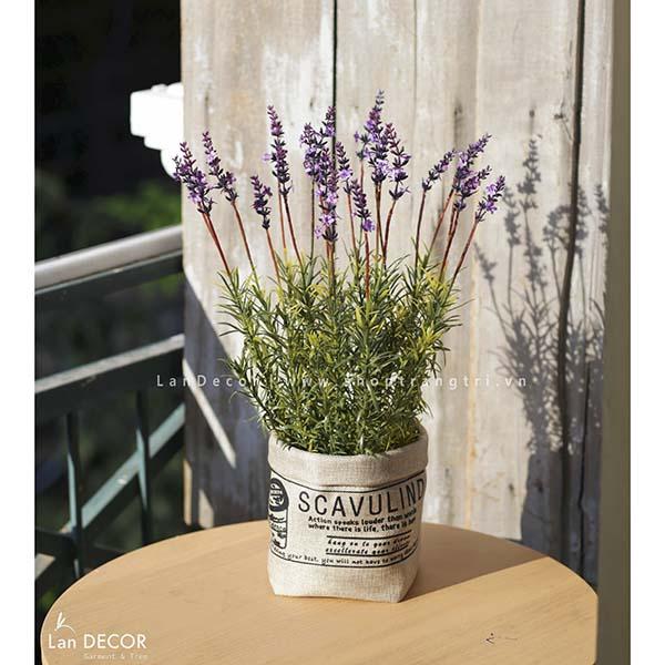 Giỏ hoa lavender phong cách vintage Lan Decor - CC314
