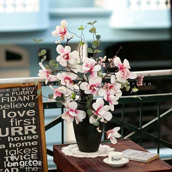 Bình hoa mộc lan cao 70cm - BH1092