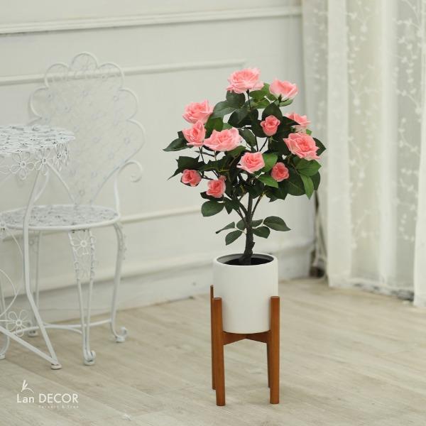 Cây hoa hồng cây cảnh trang trí nội thất (75cm) - LC3007