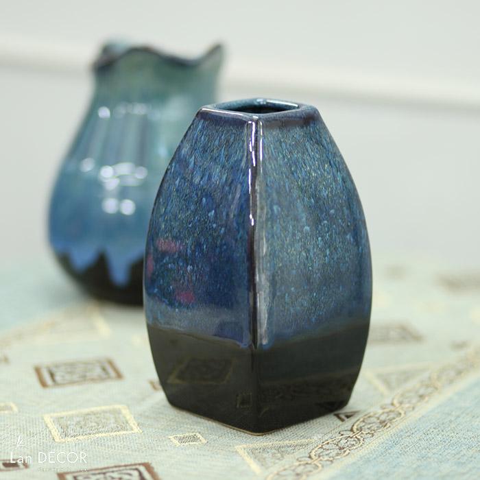 Bình gốm xanh lục (20cm) - BG441