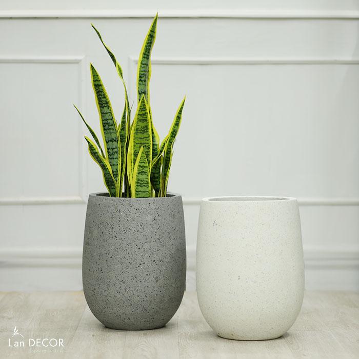 Chậu giọt nước đá mài (30*50cm)- CXM022