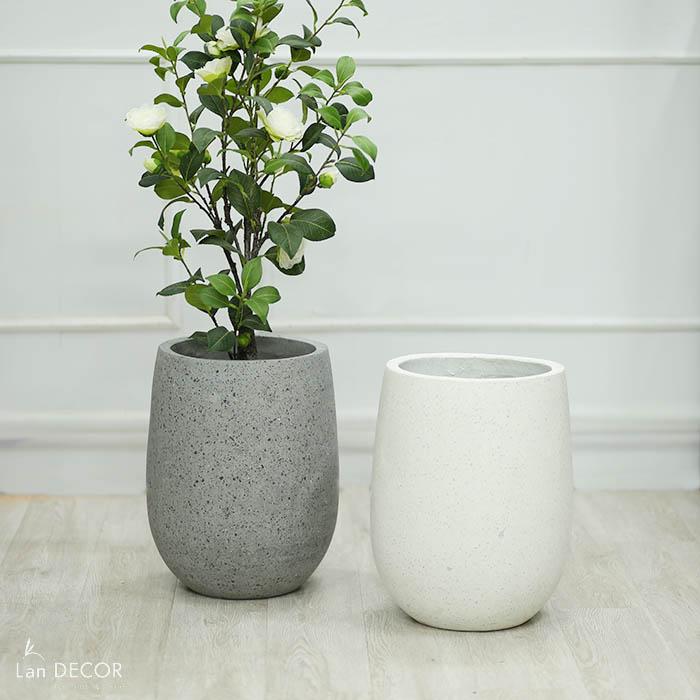 Chậu giọt nước đá mài (28*40cm)- CXM021