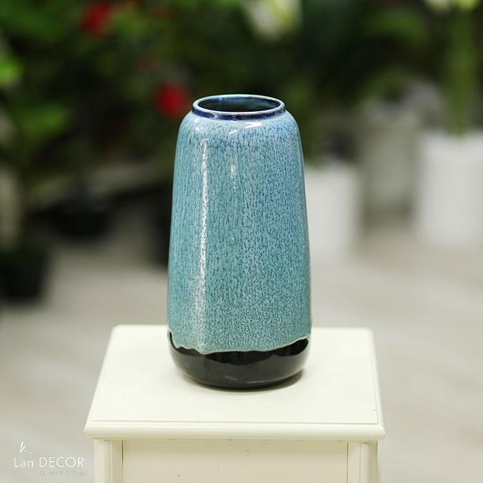 Bình gốm đùi dế xanh (30cm) - BG466