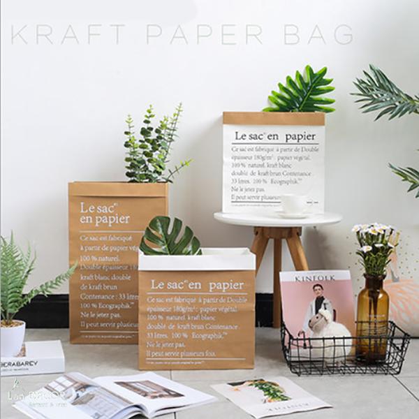 Túi hộp giấy Kraft cắm hoa trang trí - DC027