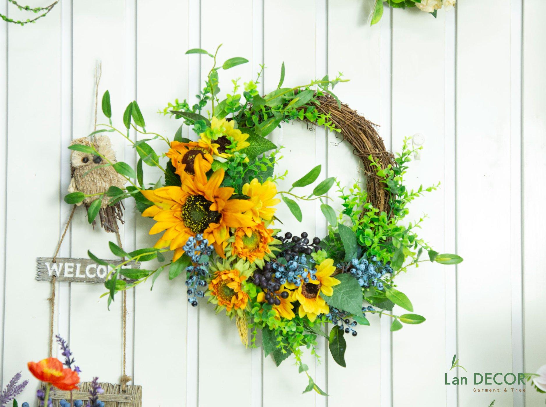 Vòng kết hoa hướng dương- VH026
