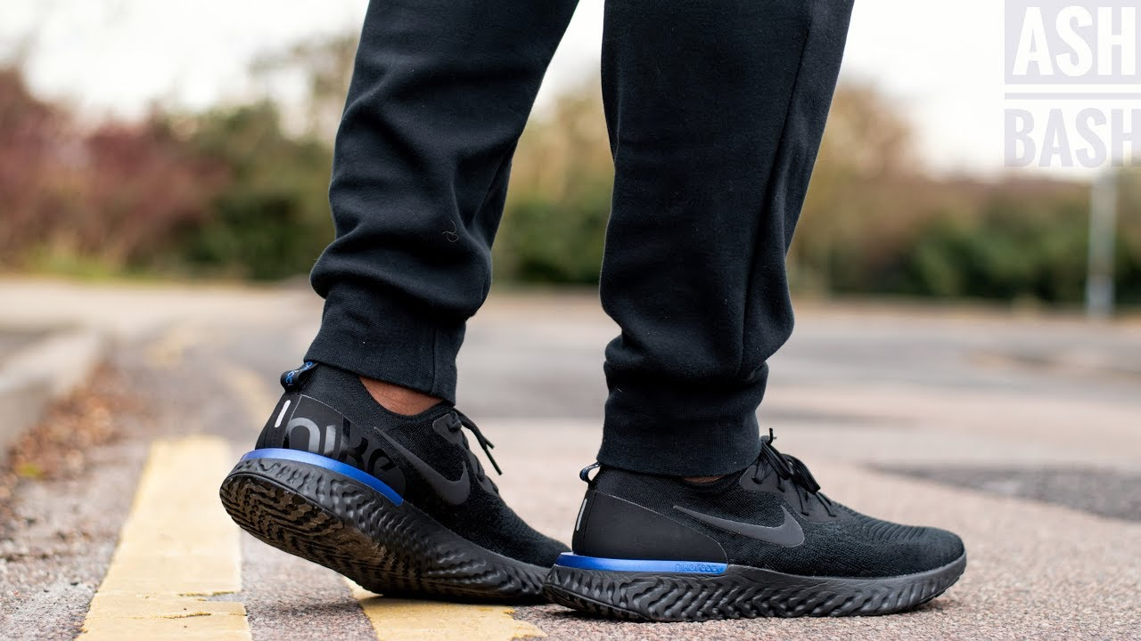 epic react flyknit triple black