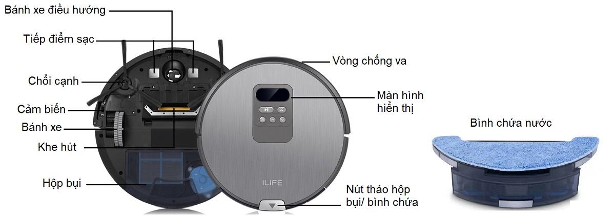 hướng dẫn sử dụng robot hút bụi ilife x750