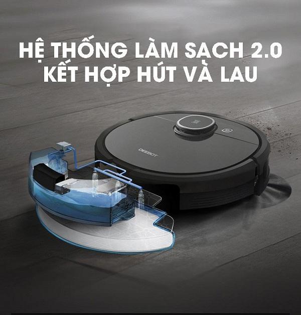Robot hút bụi lau nhà Ecovacs Deebot DX96 (T5 Hero - OZMO 950)