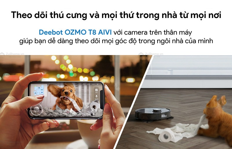 Ecovacs Deebot OZMO T8 AIVI Plus Robot hút bụi lau nhà bản Quốc Tế