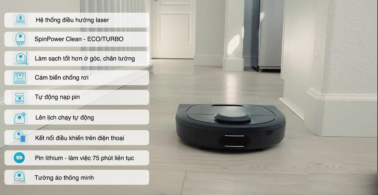 Công nghệ thông minh trên robot hút bụi lau nhà Neato Botvac D4 Connected