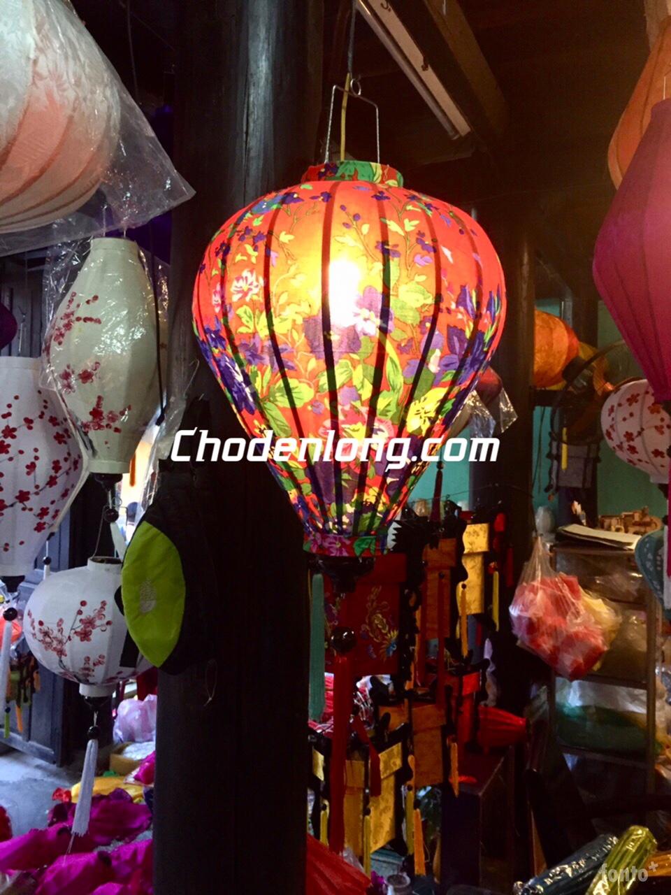 Đèn lồng Hội An vải hoa VH020