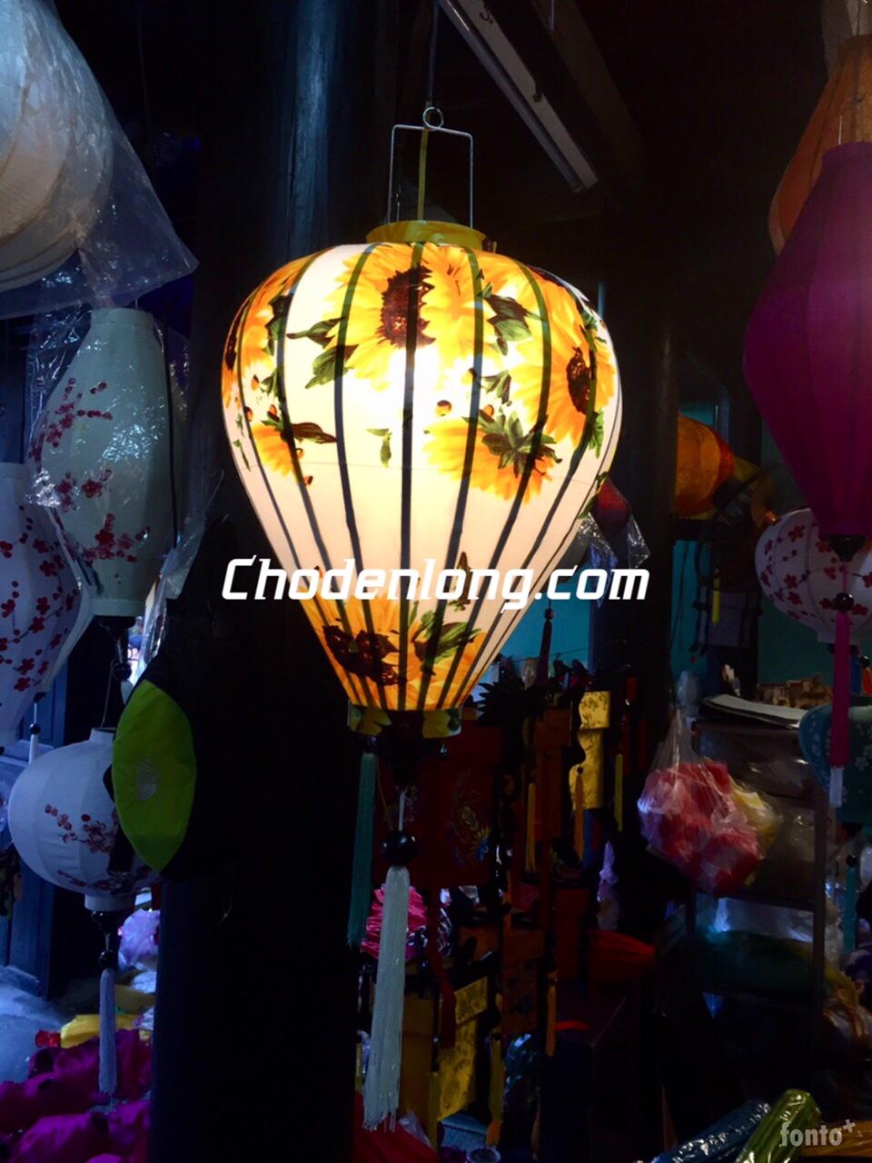 Đèn lồng Hội An vải hoa - Hoa hướng dương - VH018
