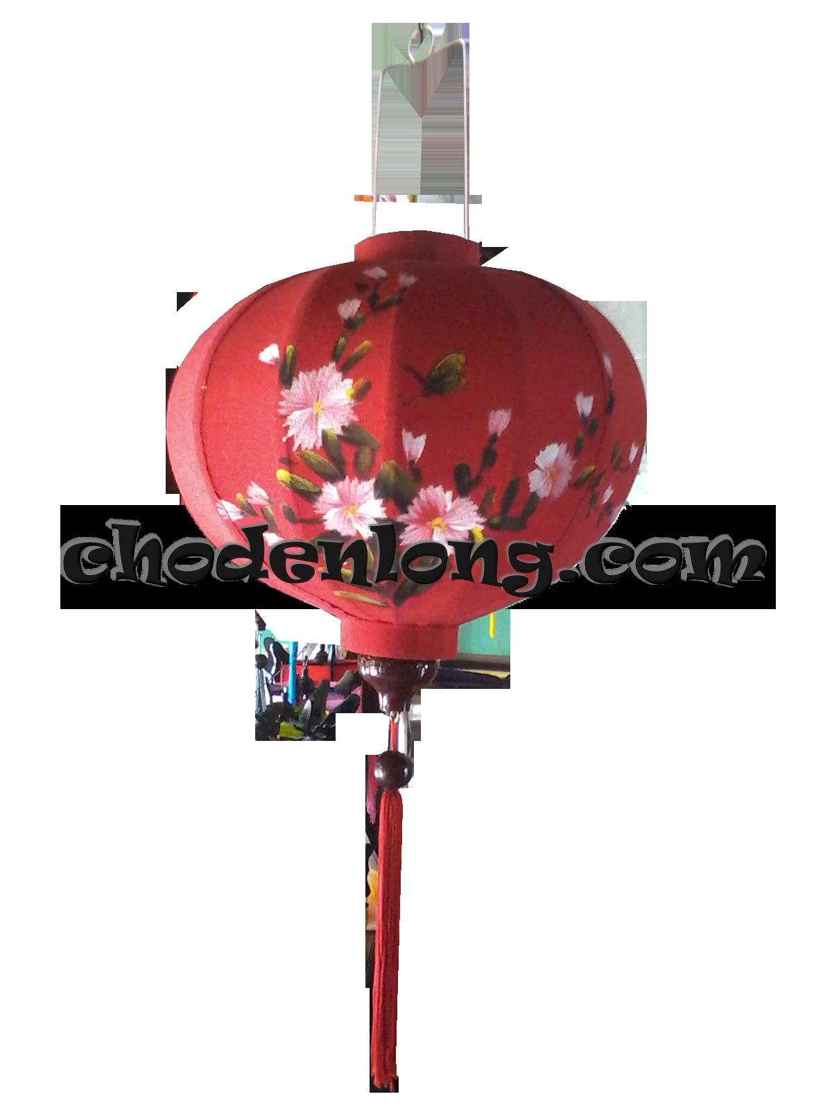 Đèn lồng Hội An vẽ hoa dại