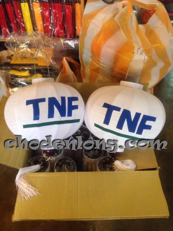 Đèn lồng Hội An kiểu tròn in logo công ty TNF