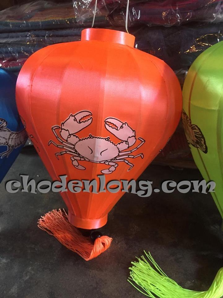 Đèn lồng Hội An kiểu tỏi in logo cua ghẹ ốc sò