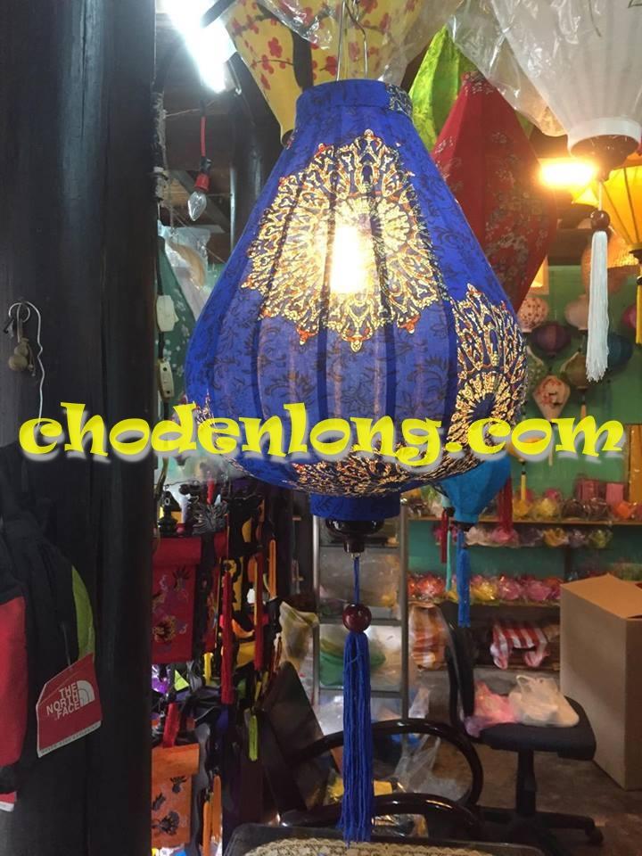 Đèn lồng Hội An vải hoa kiểu tỏi VH015