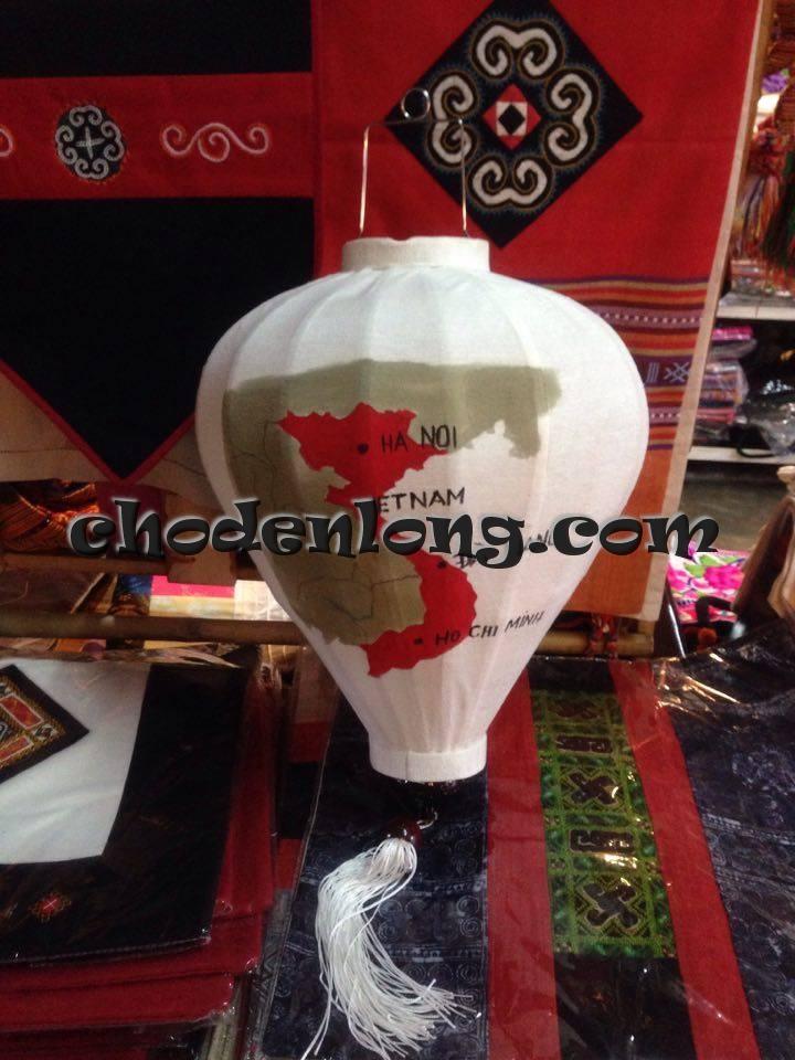Đèn lồng Hội An vẽ bản đồ Việt Nam