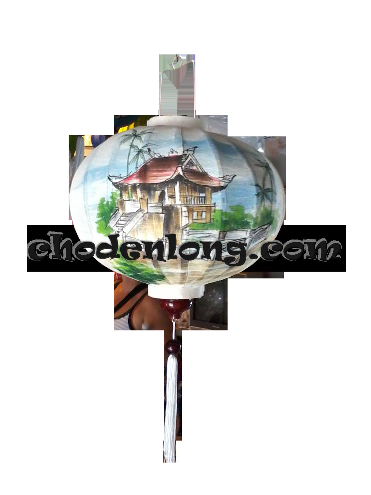 Đèn lồng Hội An vẽ chùa Một Cột Hà Nội