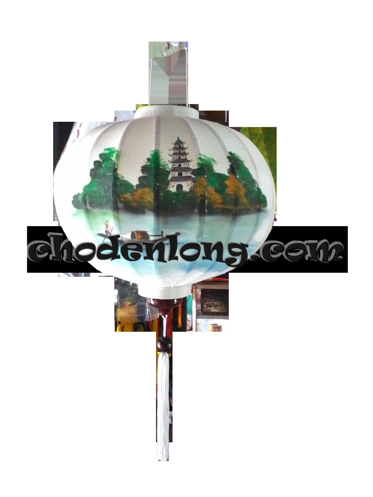 Đèn lồng Hội An vẽ chùa Thiên Mụ Huế