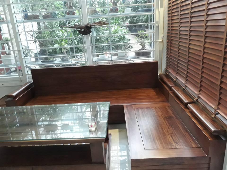 Sofa Gỗ Goc Trứng Hương Xam Mặt Liền Gia 24 000 000 Nội Thất Hằng Vinh