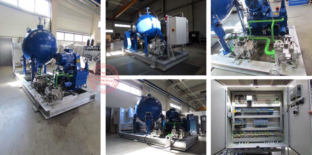 High Pressure Accumulator Unit 1500l PN100 compl
