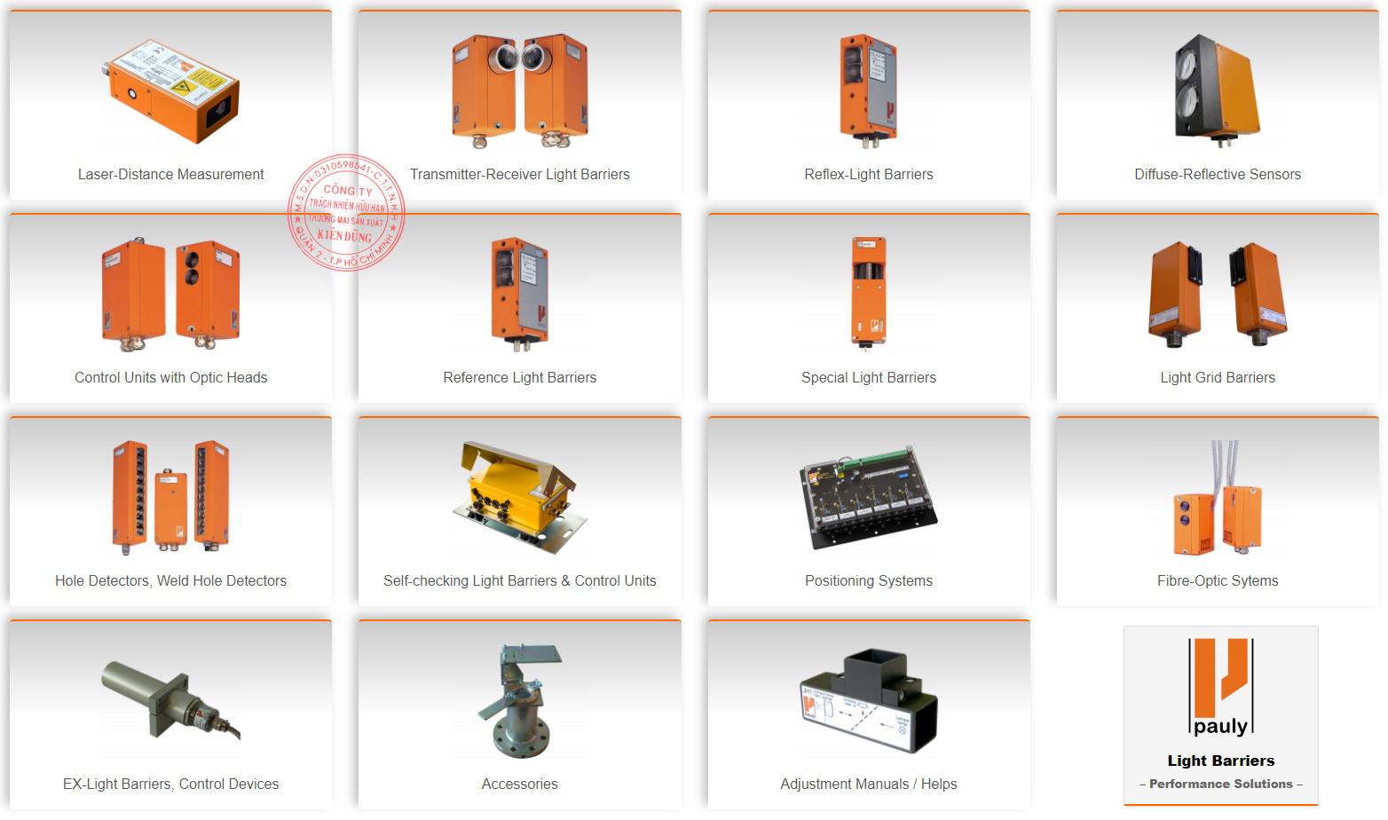Fotoelektrik Pauly Product Range