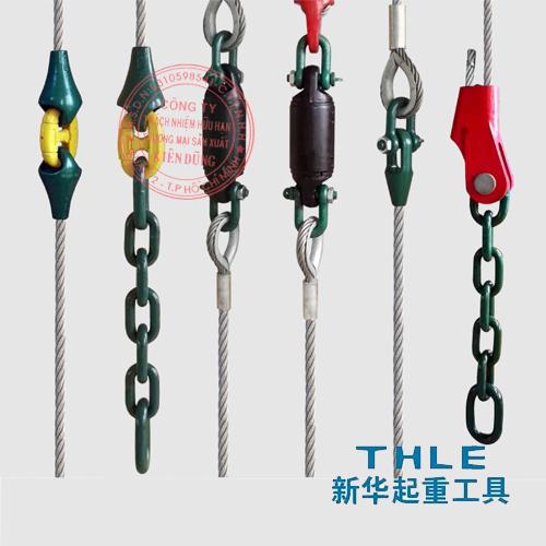Đầu nối cáp và phụ kiện cho gầu ngoạm cẩu trục hãng THLE
