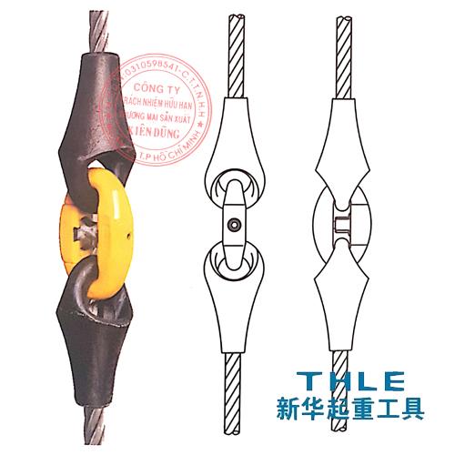 Kết hợp đầu nối cáp Wire rope pear socket và Quick release Link