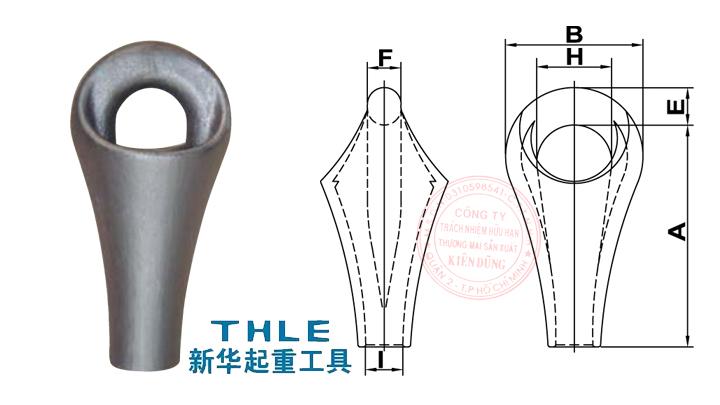 Wire Rope Pear Socket (Đầu nối cáp quả lê)