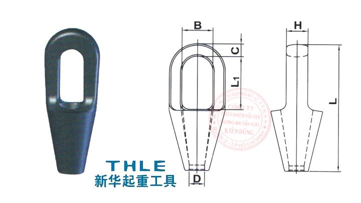 Đầu nối cáp Closed Spelter Socket
