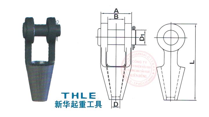 Đầu nối cáp Open Spelter Socket