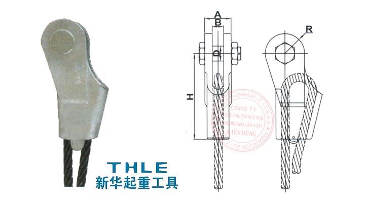 Đầu nối cáp Wedge socket