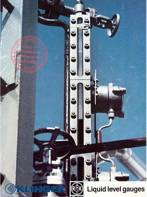 Cấu tạo thước đo mức chất lỏng Klinger Liquid Level Gauges