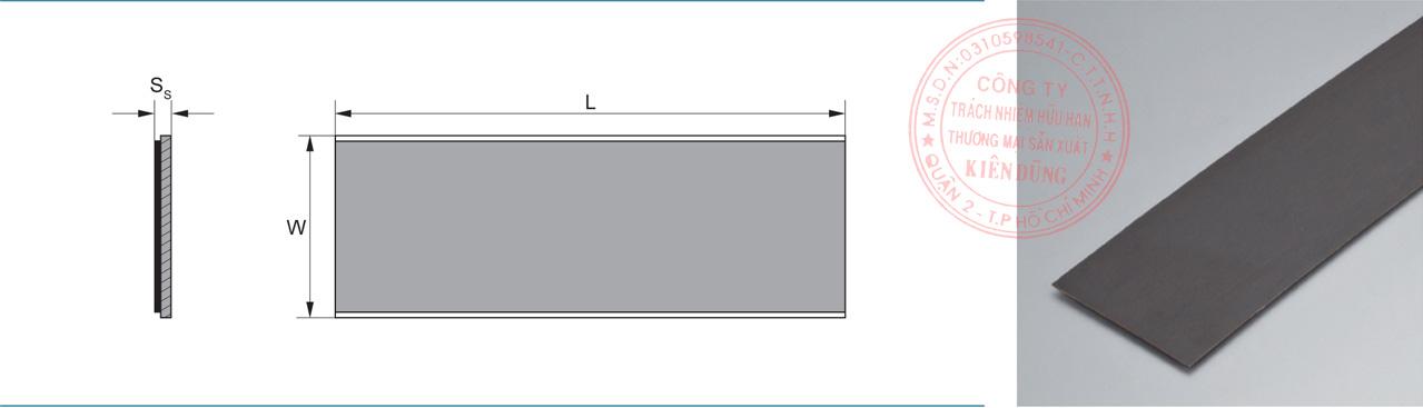 Bảng kích thước tiêu chuẩn CNP-1SP Self-Lubricating Strip