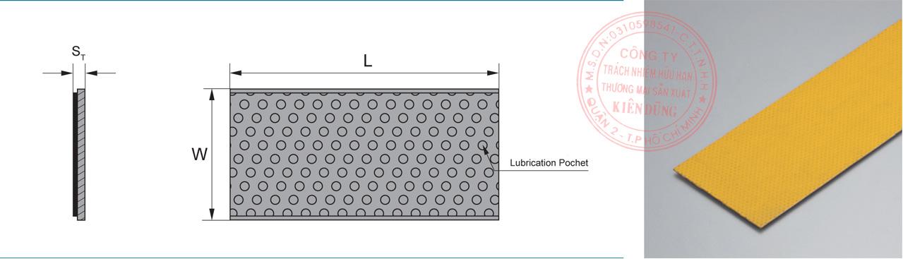 Bảng kích thước tiêu chuẩn CNP-2SP Marginal Pb-free Self-Lubricating Strip