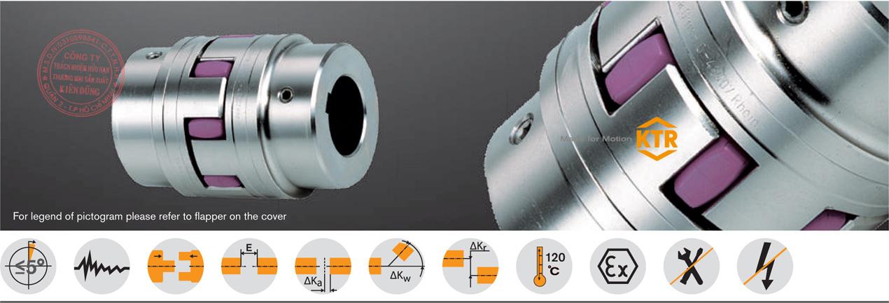 Khớp nối trục KTR ROTEX Standard Flexbile Jaw Coupling