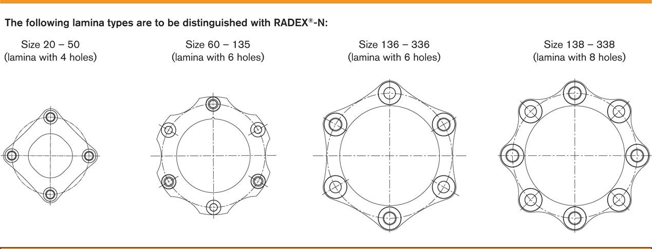 Các loại khớp nối đĩa thép KTR Radex-N Steel Laminae Coupling