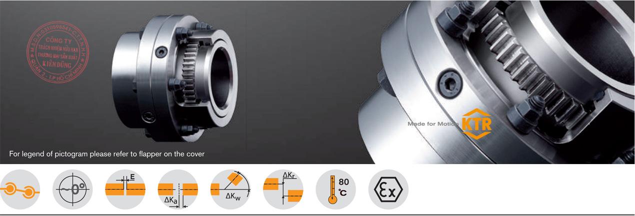 Khớp nối răng vỏ thép KTR GEARex All-Steel Gear Coupling