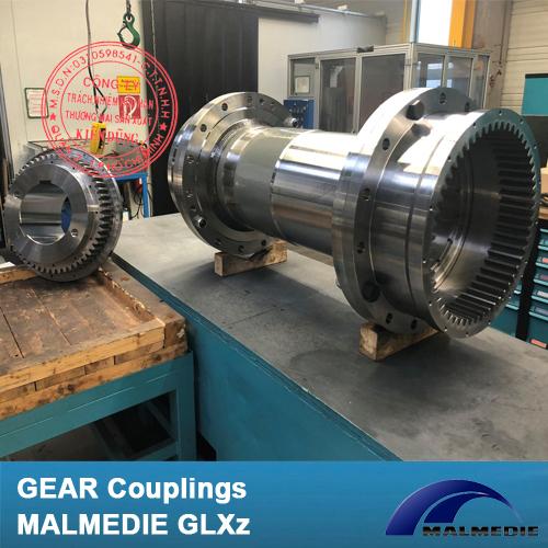 Khớp nối răng vỏ thép Malmedie Gear Coupling GLXz High-Torque 610000 Nm