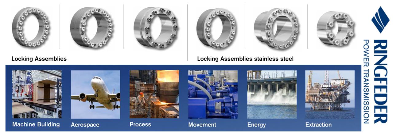 Giới thiệu Ringfeder - Nhà cung cấp các thiết bị khóa trục côn (Locking Assemblies)