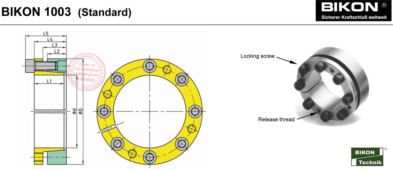 Thông số kỹ thuật Thiết bị khóa đầu trục Bikon 1003