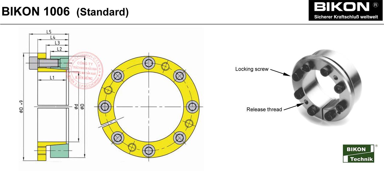 Thông số kỹ thuật Thiết bị khóa đầu trục Bikon 1006